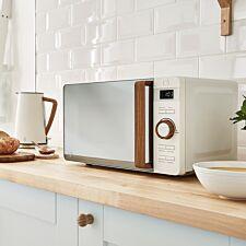 Swan Nordic Digital Microwave - White