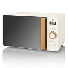 Swan SM22036WHTN Nordic 20L 800W Digital Solo Microwave - White