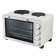 Igenix 30L Mini Oven with Double Hotplates - White