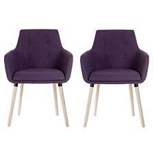 Teknik 4 Legged Soft Padded Office Chair 2 Pack - Plum