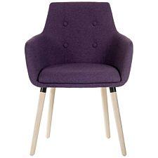 Teknik 4 Legged Soft Padded Office Chair - Plum