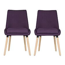 Teknik Welcome Reception/Dining Chairs 2 Pack - Plum