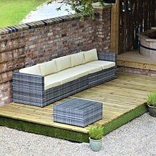 Swift Foundations Garden Decking Kit - 4.7 x 7m