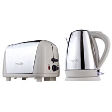 Prestige Breakfast Kettle and Toaster Set - Almond