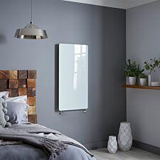 Vetro Frame 1000 X 500 mm Glass Radiator 1621B - White