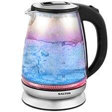 Salter EK2841IR 2200W 1.7L Glass Kettle with Blue to Red Illumination – Iridescent