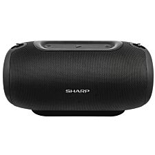 Sharp GX-BT480(BK) 40W Splashproof/Dustproof Portable Stereo Bluetooth Speaker with Call Answering & 20hr Rechargeable Battery - Black
