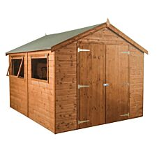 Mercia Premium Pressure Treated Shiplap Apex Shed - 10 x 8ft