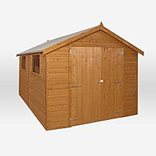 Mercia Premium Pressure Treated Shiplap Apex Shed - 12 x 8ft