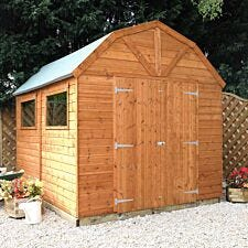 Mercia Pressure Treated Shiplap Dutch Barn Shed - 10 x 8ft