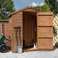 Mercia Pressure Treated Shiplap Apex Windowless Shed - 3 x 5ft