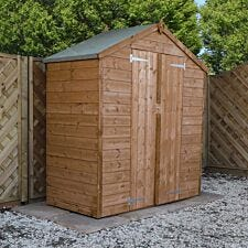 Mercia Pressure Treated Shiplap Apex Shed - 3 x 6ft