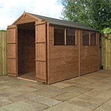 Mercia Pressure Treated Shiplap Apex Shed - 10 x 6ft