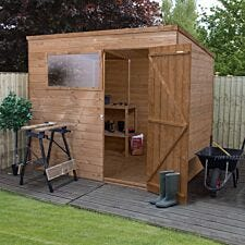 Mercia Pressure Treated Shiplap Pent Shed - 8 x 6ft