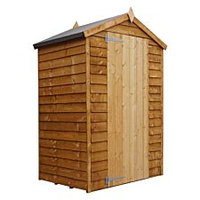 Mercia Overlap Apex Windowless Value Shed - 3 x 4ft