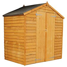 Mercia Overlap Apex Windowless Double Door Value Shed - 6 x 4ft