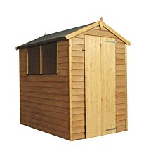 Mercia Overlap Apex Single Door Value Shed - 6 x 4ft