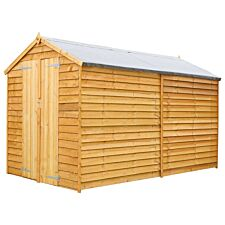 Mercia Overlap Apex Windowless Value Shed - 10 x 6ft