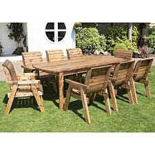 Charles Taylor Eight Seater Wooden Table Set