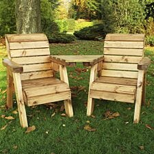 Charles Taylor Little Fellas Children's Twin Wooden Chair Companion Set - Angled