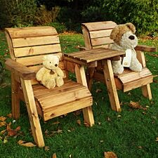 Charles Taylor Little Fellas Children's Twin Wooden Chair Companion Set - Straight