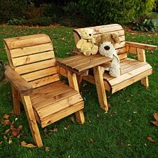 Charles Taylor Little Fellas Children's Wooden Bench/Chair Combination Set - Straight