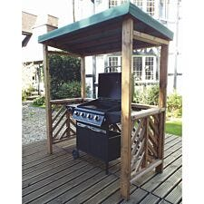 Charles Taylor Dorchester Wooden BBQ Shelter - Green