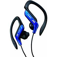 JVC Sports Ear Clip Earphones with Adjustable Clip - Blue