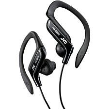JVC Sports Ear Clip Earphones with Adjustable Clip - Black