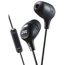 JVC Marshmallow Custom Fit In-Ear Headphones with Remote & Mic - Black