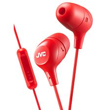 JVC Marshmallow Custom Fit In-Ear Headphones with Remote & Mic - Red