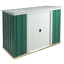 Rowlinson 8 x 4 Greenvale Metal Pent Shed With Floor