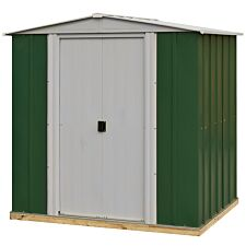 Rowlinson 6 x 5 Greenvale Metal Apex Shed With Floor