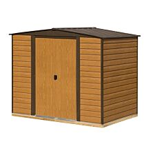 Rowlinson 8 x 6 Woodvale Metal Apex Shed With Floor