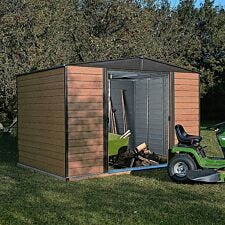 Rowlinson 10 x 6 Woodvale Metal Apex Shed With Floor