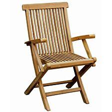 Charles Bentley Teak Arm Chairs - Set of 2