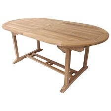 Charles Bentley Oval 6 to 8 Seat Extending Table - Teak