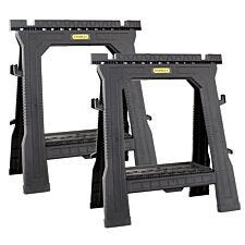 Stanley Folding Sawhorses - Twin Pack