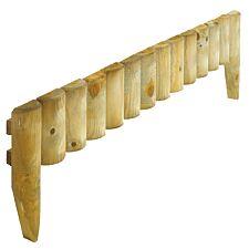 Rowlinson 12-Inch Wooden Border Fence Set - 1m