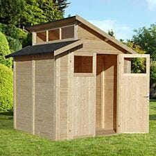 Rowlinson 7 x 7 Skylight Shed - Unpainted Natural