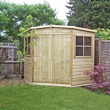 Shire Pressure Treated Corner Shed - 8ft x 8ft