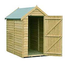 Shire Value Overlap Pressure Treated Shed - 6ft x 4ft