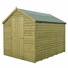 Shire Value Overlap Pressure Treated Shed - 6ft x 8ft