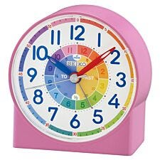 Seiko Children's Time Teaching Alarm Clock - Pink