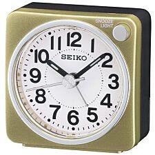 Seiko Bedside Alarm Clock - Gold