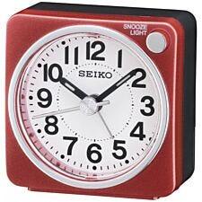 Seiko Bedside Alarm Clock - Red