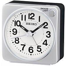 Seiko Bedside Alarm Clock - Silver