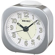 Seiko Luminous Alarm Clock - Silver