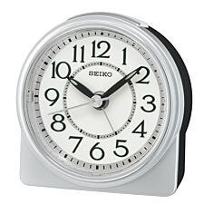Seiko Round Analogue Beep Alarm Clock - Silver