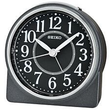 Seiko Round Beep Alarm Clock with Snooze - Black